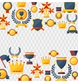 awards and trophies icons background vector image vector image