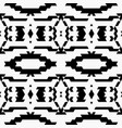 aztec tribal seamless black pattern vector image