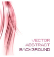 background pink left vector image vector image