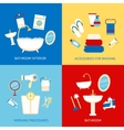 Bathroom flat set vector image