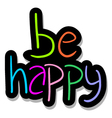 be happy symbol vector image vector image