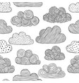 beautiful black and white seamless pattern of vector image vector image