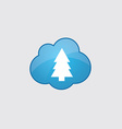 Blue fir-tree icon vector image vector image