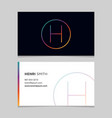 business-card-letter-h vector image vector image