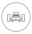 car wash automatic icon black color in round vector image
