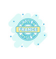 cartoon colored made in france icon in comic vector image vector image
