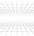 Ceiling and floor perspective grid lines vector image vector image