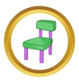 Children chair icon vector image