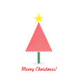 christmas tree isolated design vector image vector image
