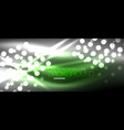 circle abstract lights neon glowing background vector image vector image
