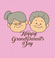 color dotted background card with faces elderly vector image vector image