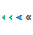 colorful arrows icon vector image