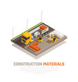 construction supplies delivery background vector image vector image