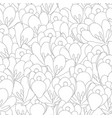 crocus flower outline seamless background vector image vector image
