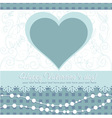 Cute Valentines Day heart floral invitation postca vector image vector image