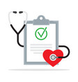 diagnosis medical report with stethoscope vector image vector image