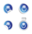 diamond sticker blue vector image vector image