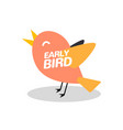 early bird discount special offer sale icon vector image vector image