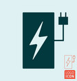 electric car charging station symbol vector image vector image