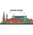 england leicester city skyline architecture vector image vector image