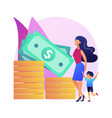 family account concept metaphor vector image vector image
