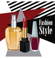 fashion style cosmetics perfume wo poster vector image vector image