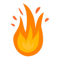 fire logo red yellow fire vector image