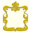 Frame like Art Nouveau vector image