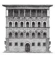 gaudagni palace at florence palaces of a smaller vector image vector image