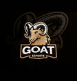 goat sport logo mascot vector image vector image