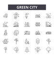green city line icons signs set outline vector image vector image