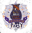 Halloween party poster with an old owl vector image vector image