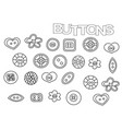 hand drawn sewing buttons set coloring book page vector image vector image