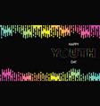 happy youth day abstract glow gradient web banner vector image vector image