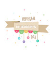 international childrens day vector image vector image