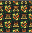 khokhloma seamless pattern traditional vector image vector image