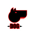 Logo of angry dog with strong collar Aggressive vector image vector image