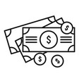 money cash icon outline style vector image vector image