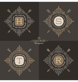 Monogram logo set vector image