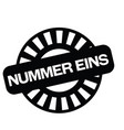 number one stamp in german vector image