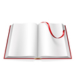 open book with blank pages and sign vector image vector image