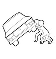 people overturned car icon outline vector image vector image