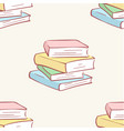 pile stack books pattern seamless tile vector image