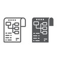 planning line and glyph icon development vector image