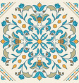 portuguese tile beautiful colored pattern for vector image vector image