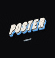 poster font 3d bold color style vector image vector image