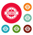 quality logo simple style vector image