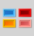 realistic blank frames collection vector image vector image
