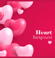 realistic hearts balloon vector image