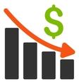 Recession Trend Flat Icon vector image vector image